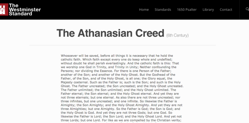 The Athanasian Creed
